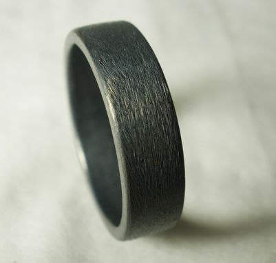 Buy a Hand Made Mens Wedding Ring Rustic Unique Simple