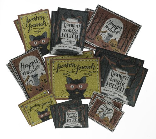 Martha Stewart Crafts Beverage Labels, Animal Masquerade