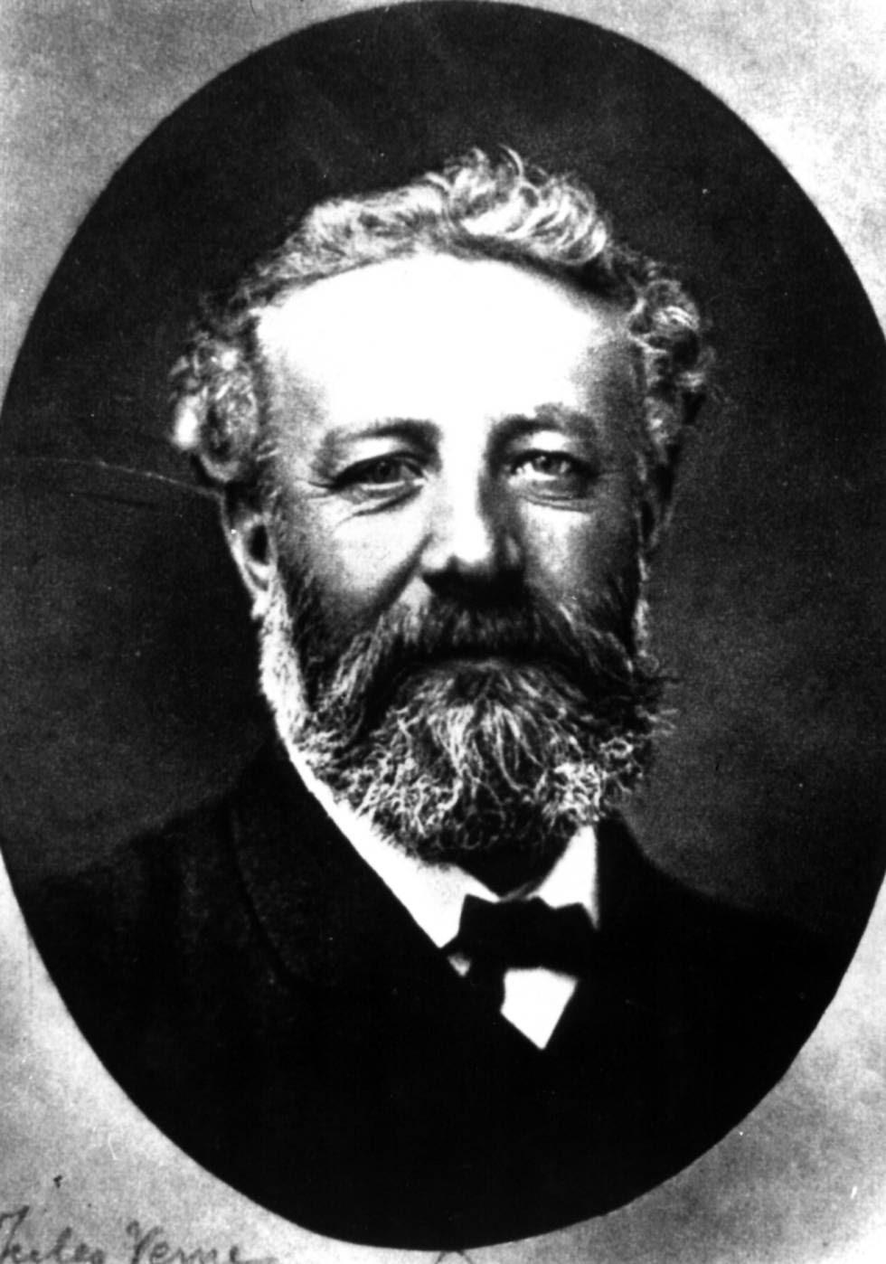 Retrato de escritor francés Julio Verne conservado en la Biblioteca Nacional de Francia.