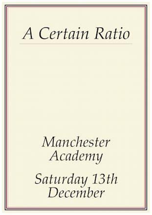 A Certain Ratio live @ Manchester Academy 2