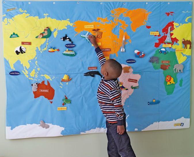 Educational Insights Geosafari Wonder World Set Children Map
