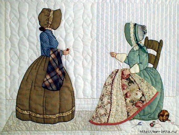 Лоскутное шитье и аппликация. Журнал Bonnet Girls (8) (577x437, 168Kb)