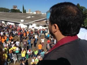 'Governo do Paraná atacou direitos', diz presidente do sindicato (Foto: Marina Petri/RPC)