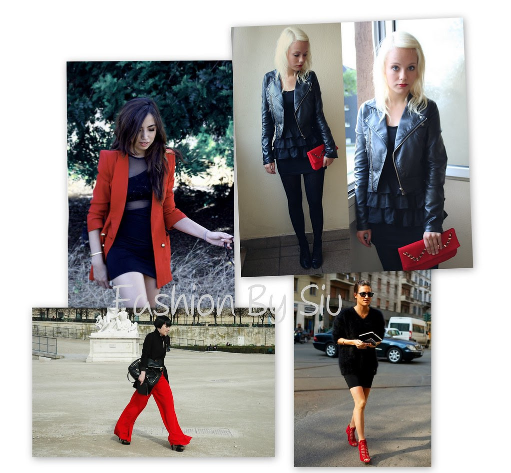 siyah-kırmızı kıyafetler