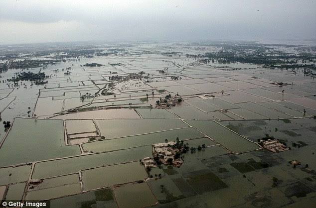 Stagnant flood plains in densely populated, poverty-striken urban areas could become breeding grounds for cholera, mosquitos and malaria, significantly raising the death toll.