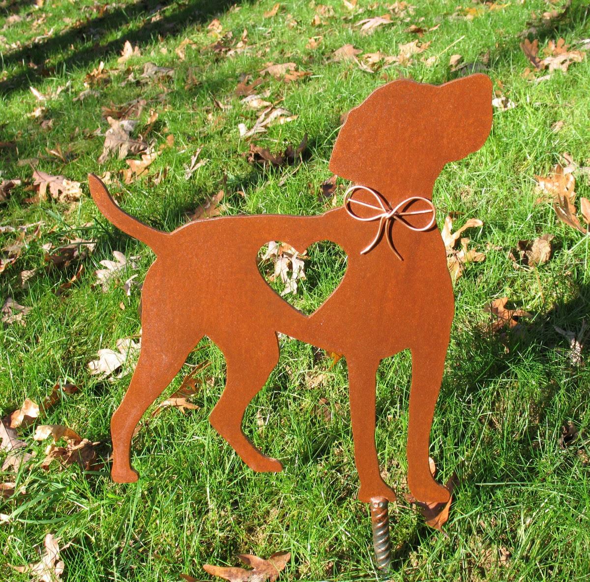 Vizsla Dog Garden Stake - Metal Yard Art - Metal Garden ...