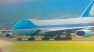.Aire Force One que transporta al Presidente de los Estados Unidos Barack Obama aterrizo en suelo costarricense. CRH