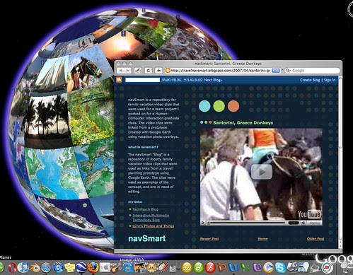 PhotoGlobe and YouTube Travel Videos, using Google Earth.