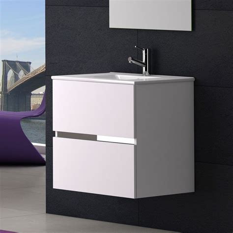 meuble salle de bain  cm plan vasque ceramique