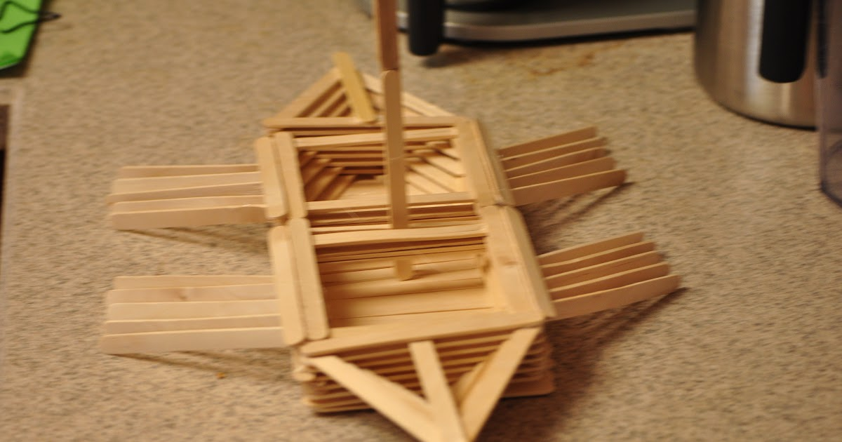 How To Build A Model Viking Ship Out Of Popsicle Sticks