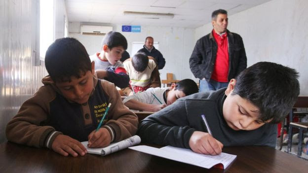 Remedial education centre in the Zaatari refugee camp, Jordan (file photo January 2016)