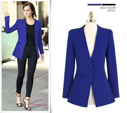 Royal Blue Blazer from Street Style Fashion