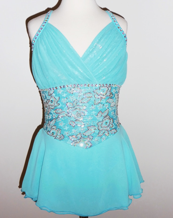 beautiful  gorgeous figure ice skating dress custom made