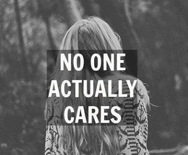 No One Actually Cares Pictures Photos And Images For Facebook