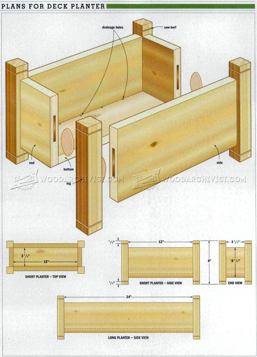 Deck Planter Plans •