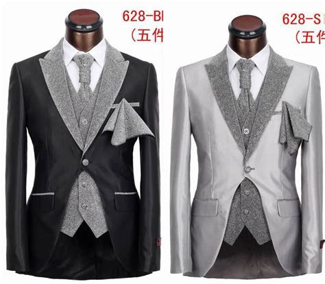 New Fashion Five Pieces Slim Fit Tuxedo Suit High Grade