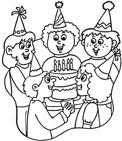 Party Hats coloring page | SuperColoring.com
