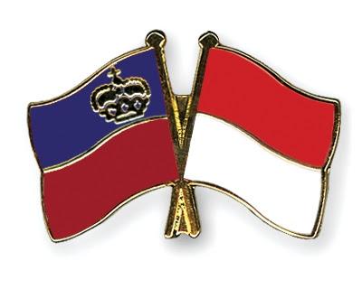 Friendship pin: Liechtenstein and Monaco