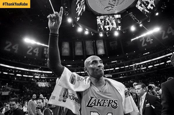 Kobe Bryant ended his 20-year NBA career by dropping 60 points against the Utah Jazz at STAPLES Center...on April 13, 2016.