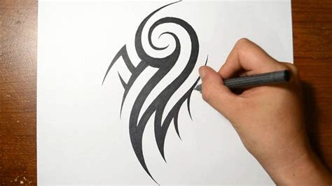 draw cool tribal arm tattoo design youtube