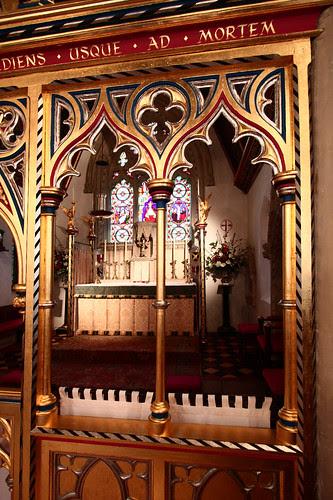 The Altar through the Screen