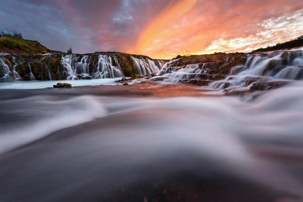 Bruarfoss - не высокий и не особенно мощный водопад, но какой красивый!