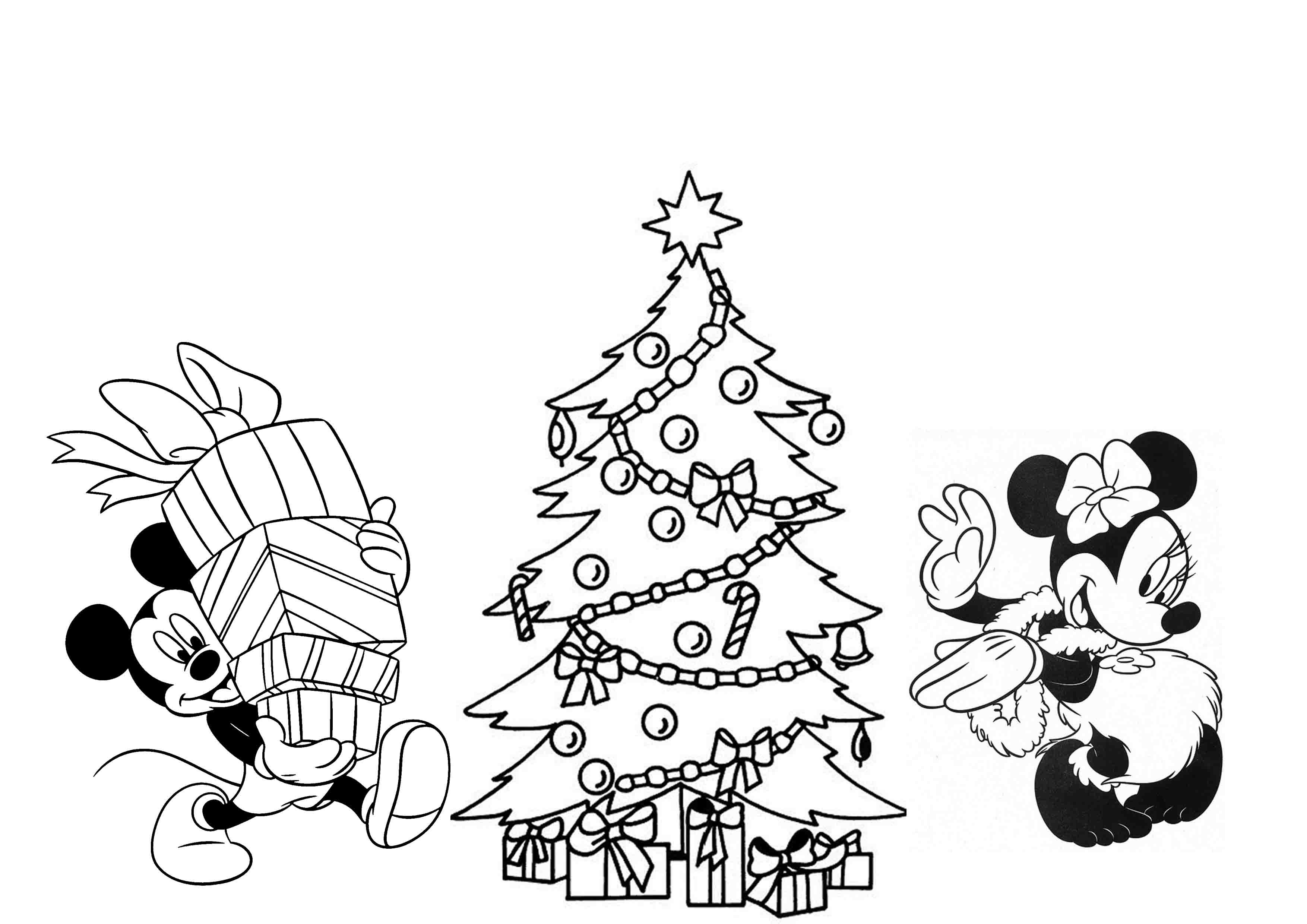Disney Christmas Coloring Pages For Kids Printable ...