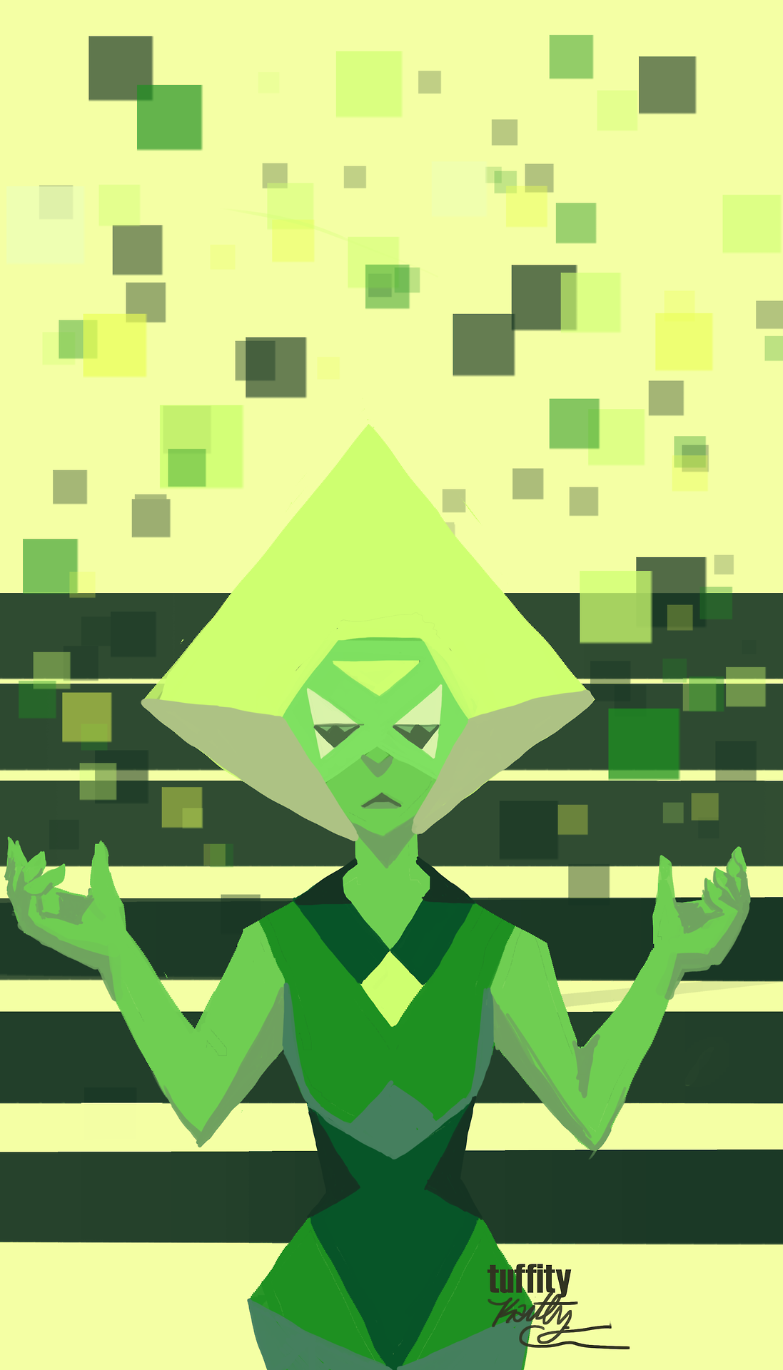 I finally got Photoshop downloaded onto my computer again so here's a Peridot
