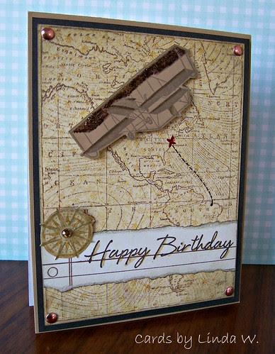 Map of America Birthday Card
