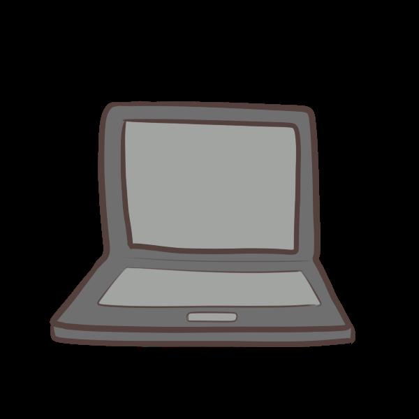 ノートパソコンのイラスト かわいいフリー素材が無料のイラストレイン