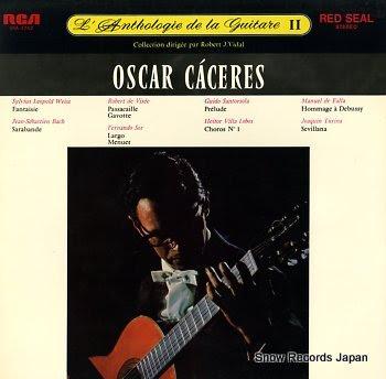 CACERES, OSCAR l'anthologie de la guitare ii