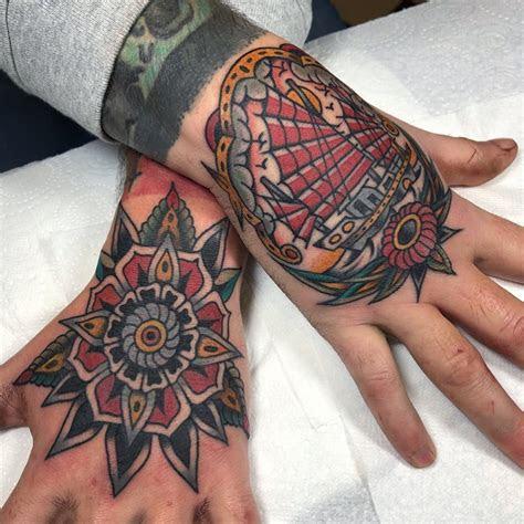 traditional hand cloak dagger tattoo parlour london