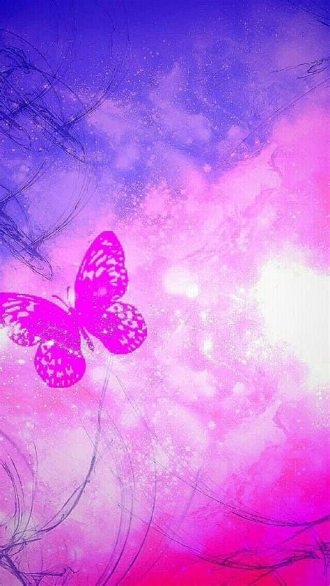 pink purple butterfly wallpaper   butterfly