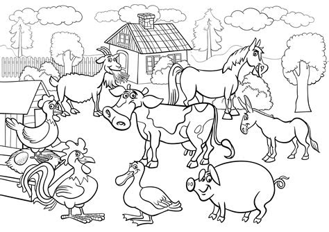 farm scene coloring pages coloring coloring pages
