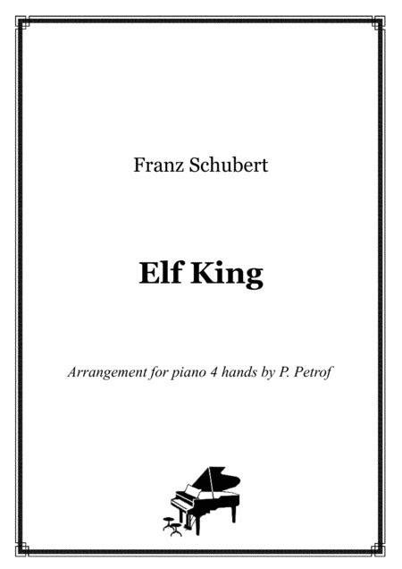 schubert elf king piano  hands score  parts