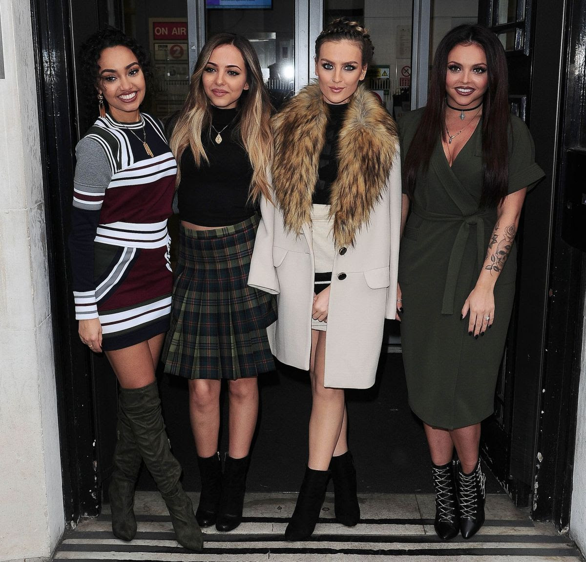 LITTLE MIX at BBC Radio Studios in London 12/18/2015