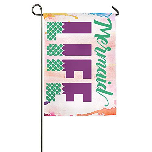 Funny Quotes Mermaid Life Funny House Flag Garden Flag