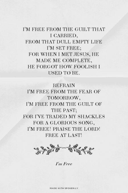 I Am Free Praise The Lord I Am Free Lyrics