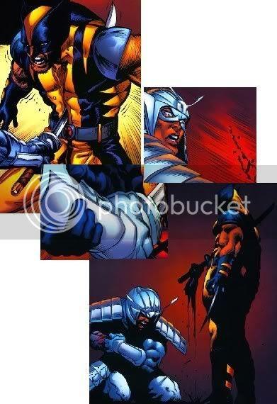 Wolverine vs Samurai de Prata
