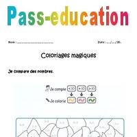 Comparer Des Nombres à 10 Cp Coloriage Magique à Imprimer Pass