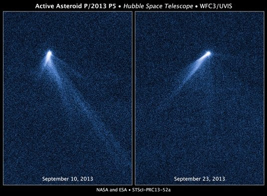 asteroid stream from P/2013 P5. Credit: NASA/ESA
