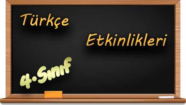 4sınıf Türkçe Eş Anlamlı Sözcükler Etkinliği 2 Meb Ders