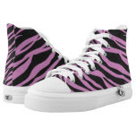 Orchid Pink Zebra Striped Printed Shoes