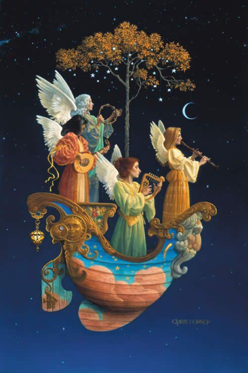 """""""Evening Angels"""", James C. Christensen, jameschristensenart.com"""