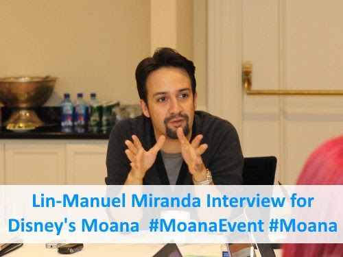 Lin-Manuel Miranda Interview for Disney's Moana Movie