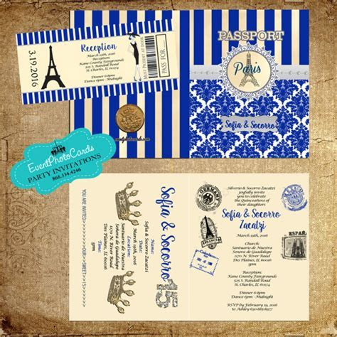 Beige Gold & Royal Blue Oro y Azul Royal Paris Eiffel