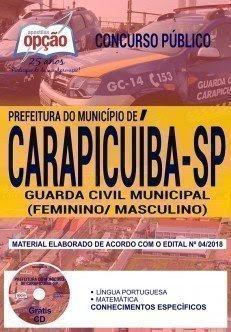 Apostila Concurso Prefeitura de Carapicuíba 2018 | GUARDA CIVIL MUNICIPAL (FEMININO/ MASCULINO)
