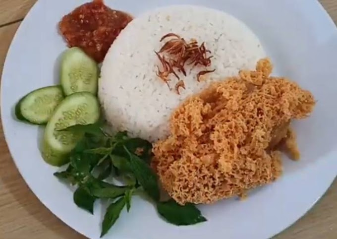Resep Mudah Nasi Uduk Rice Coocker & Ayam Kremes Tanpa Tanding