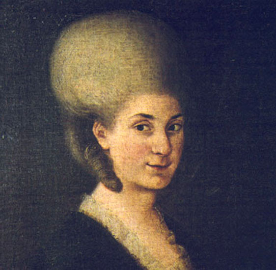 Anonymous portrait of Maria Anna Mozart