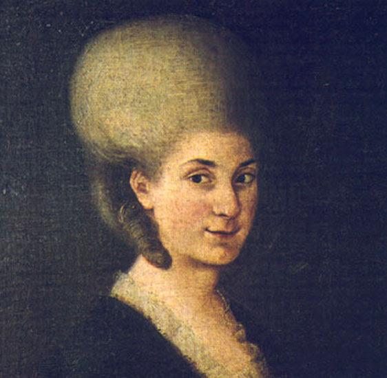 Anonymous portrait of Maria Anna Mozart